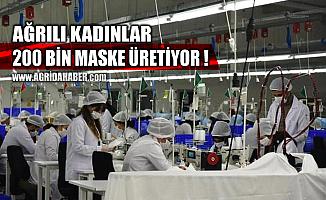 Ağrılı kadınlar Tekstilkent'te günlük 200 Bin maske üretiyor