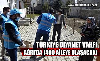 Türkiye Diyanet Vakfı Ağrı'da bin 400 aileyi Sevindirecek
