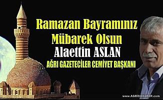 AGC Başkanı Alaettin ASLAN'dan Bayram Mesajı