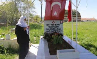 Ağrı'da Polis Ekipleri Şehit Annesinin Bayramını Kutladı