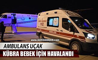 Ağrı'da Ambulans Uçak 17 günlük bebek için havalandı