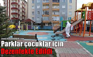 Ağrı'da Koronavirüs Kapsamında Parklar Dezenfekte Edildi!