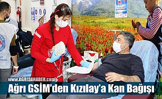 Ağrı GSİM'den Kızılay'a Kan Bağışı Kampanyasına destek