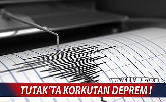 Ağrı Tutak'ta Yaşanan Deprem Korkuttu!