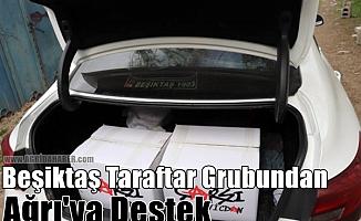 Beşiktaş Taraftar Grubundan Ağrı'ya Destek!