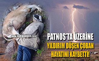 Patnos'da İneklerini Otlatan Çobanın Üstüne Yıldırım Düştü