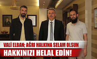 Ağrı'da Haber Ekibinden Vali Süleyman Elban'a Veda Ziyareti