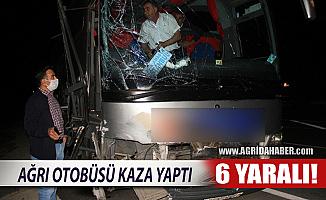 Ağrı Otobüsü Sivas'ta Kaza Yaptı! 6 Yaralı