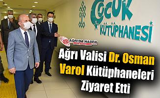 Ağrı Valisi Dr. Osman Varol Kütüphaneleri Ziyaret Etti