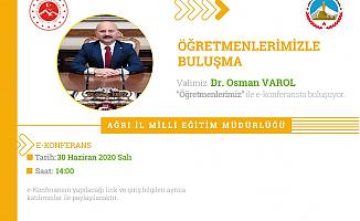 Ağrı Valisi Osman Varol Öğretmenlerle Buluşuyor