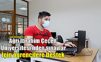 AİÇÜ'den sınavlar için bilgisayar laboratuvarları hazırlandı