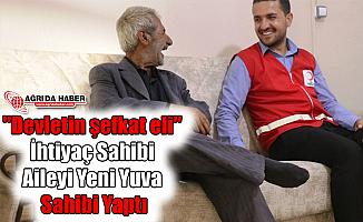 """""""Devletin şefkat eli"""" İhtiyaç Sahibi Aileyi Yeni Yuva Sahibi Yaptı"""