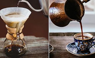 Filtre kahve ile Türk kahvesi karşılaştırıldı
