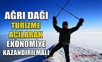 """Prof. Dr. Faruk Kaya: """"Ağrı Dağı Ekonomiye Kazandırılmalı"""""""