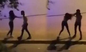 Tartıştığı kızı sokak ortasında dövdü!
