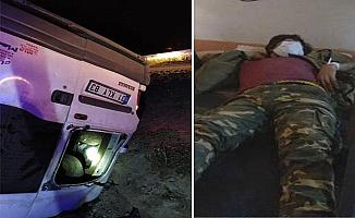 Van'da göçmenleri taşıyan minibüs kaza yaptı 1 ölü 41 yaralı
