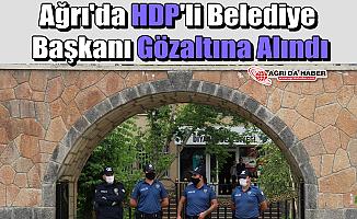 Ağrı'da HDP'li Belediye Başkanı Gözaltına Alındı