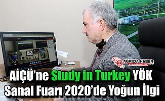 AİÇÜ'ne Study in Turkey YÖK Sanal Fuarı 2020'de Yoğun İlgi