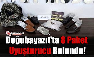 Doğubayazıt'ta Ayakkabı'ya Gizlenmiş 8 Paket Uyuşturucu Bulundu!