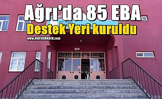 Ağrı'da 85 EBA Destek Yeri kuruldu