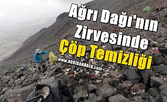 Ağrı Dağı'nın Zirvesinde Çöp Temizliği