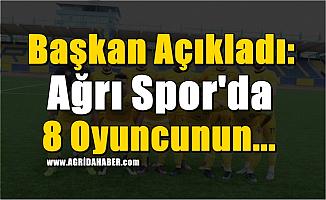Başkan Açıkladı: Ağrı Spor'da 8 Oyuncu