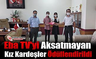 Eba TV'yi Aksatmayan Kız Kardeşler Ödüllendirildi