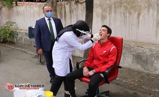 Ağrı SEM Sporcuları Koronavirüs Taramasından Geçti