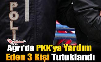 Ağrı'da PKK'ya Yardım Eden 3 Kişi Tutuklandı