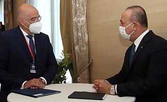 Bakan Çavuşoğlu ve Yunan Bakan Bir Arada