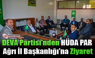 DEVA Partisi'nden HÜDA PAR Ağrı İl Başkanlığı'na Ziyaret