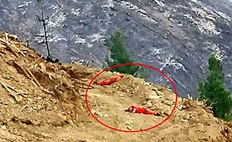 İtfaiye İşçileri Toprak Üzerinde Uyuya Kaldı