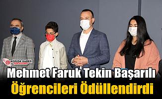 Mehmet Faruk Tekin Başarılı Öğrencileri Ödüllendirdi
