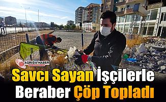 Savcı Sayan İşçilerle Çöp Topladı