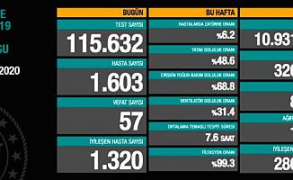 Türkiye'de Bugün 57 can kaybı!