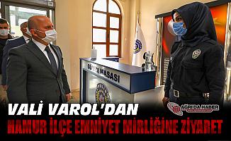 Vali Dr. Osman Varol'dan Hamur İlçe Emniyet Amirliğine ziyaret