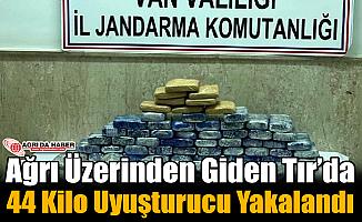 Ağrı Yönünde Giden Tır'dan 44 Kilo Uyuşturucu Bulundu!