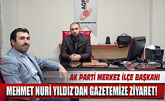 Ak Parti Ağrı Merkez İlçe Başkanı Mehmet Nuri YILDIZ'dan Gazetemize Ziyaret