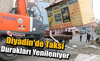 Diyadin'de Taksi Durakları Yenileniyor