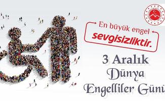 Ağrı Valisi Dr. Osman Varol 3 Aralık Dünya Engelliler Günü mesajı