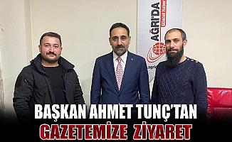 Başkan Ahmet TUNÇ, Ağrı'da Haber İmtiyaz Sahibi Aslan'ı Ziyaret Etti