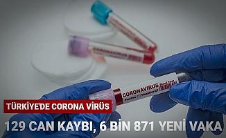 30Ocak2021 Koronavirüs tablosu 129 can kaybı,6 bin 871 yeni vaka