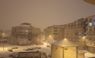 Ağrı yoğun karla yeniden beyaza büründü