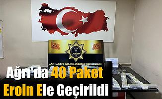 Ağrı'da 40 Paket Eroin  ele Geçirildi
