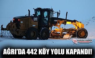 Ağrı'da 442 köy yolu ulaşıma kapandı