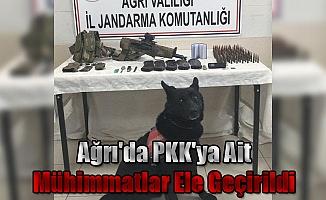Ağrı'da PKK'ya Ait Mühimmatlar Ele Geçirildi