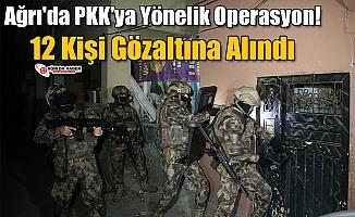Ağrı'da PKK'ya Yönelik Operasyon! 12 Kişi Gözaltına Alındı