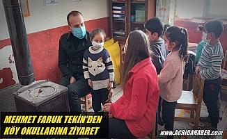 Ağrı Milli Eğitim Müdürü Tekin köy okullarını ziyaret etti