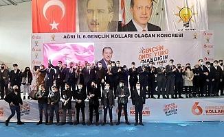 AK Parti Ağrı İl Gençlik Kolları Başkanlığına Gülçin Yeniden Seçildi