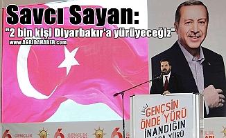 """Savcı Sayan: """"2 bin kişi Diyarbakır'a yürüyeceğiz"""""""